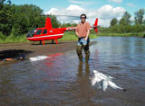 Mit dem Helikopter zum Fly Out Fishing